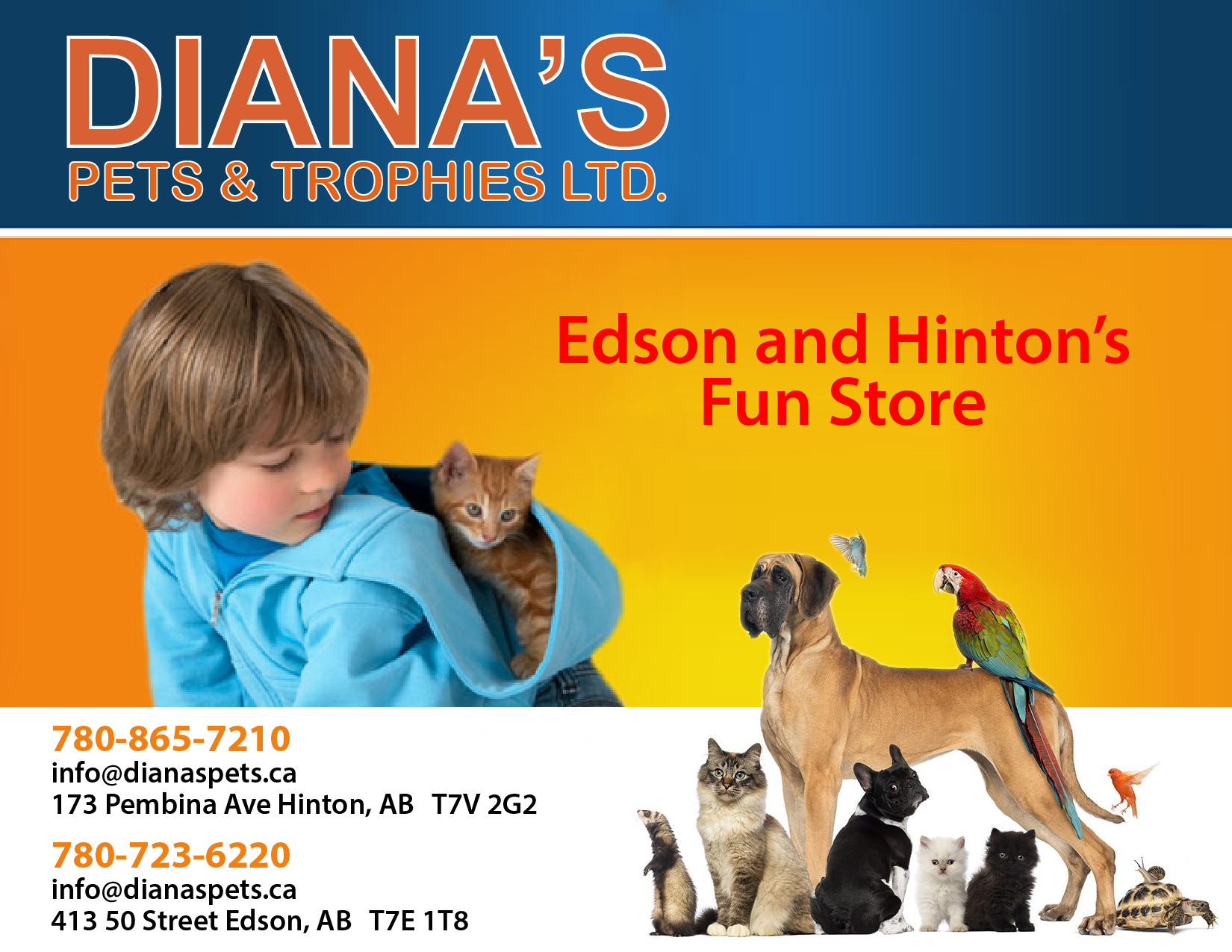 Diana's Pets and Trophies Ltd.